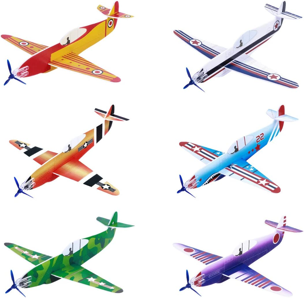 Toyvian Flying Airplane Genuine Free Shipping Year-end annual account Gliders Toys Foam Pack Models Plane 8 36