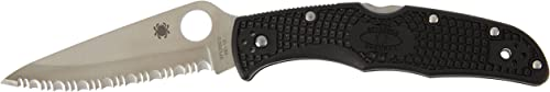 Spyderco C10SBK Couteau de poche ondulé Endura (Noir)