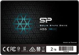 シリコンパワー SSD 2TB 3D NAND採用 SATA3 6Gb/s 2.5インチ 7mm PS4 動作確認済 3年保証 A55シリーズ SP002TBSS3A55S25