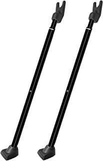 SECURITYMAN 2-in-1 Door Security Bar & Sliding Patio Door Security Bar (2 Pack) via Interchangeable Caps - Constructed of ...