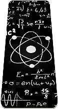 Yoga Mat Antislip TPE zwart wetenschappelijke wiskundige formule Hoge dichtheid vulling om pijnlijke knieën te voorkomen, ...