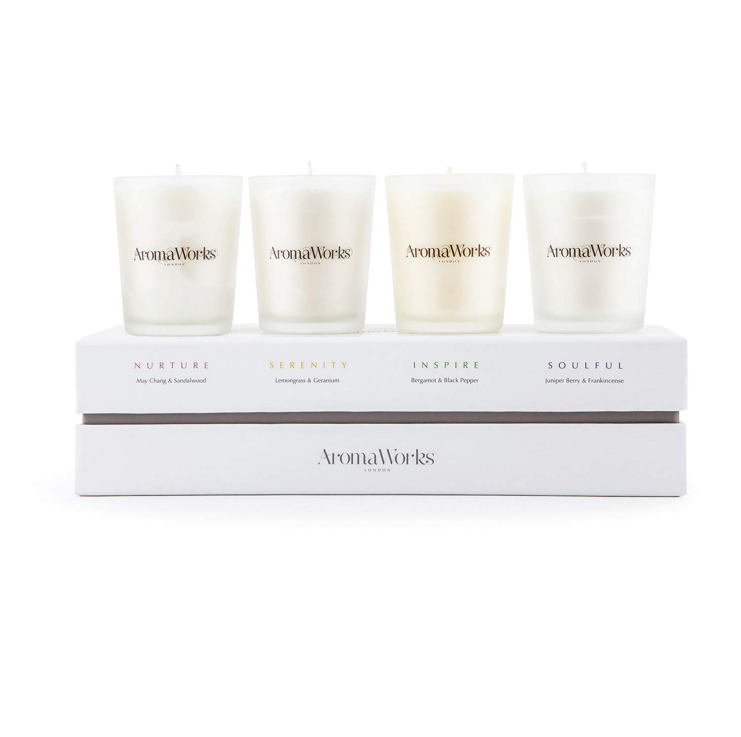 AromaWorks The signature range candle 4 Popular shop is the lowest price Manufacturer OFFicial shop challenge pc set unisex Cou
