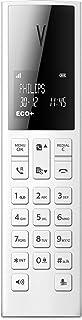 Philips M3501W/22   Linea V DECT Design Schnurlostelefon   1.8' Display und HQ Sound   Weiß