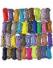 Aufodara Paracord set, touwen van 10 x 3,5 m, doe-het-zelf koorden, handgeweven methode voor armband, sleutelhanger en hanger (kleurrijk x 10 stuks)