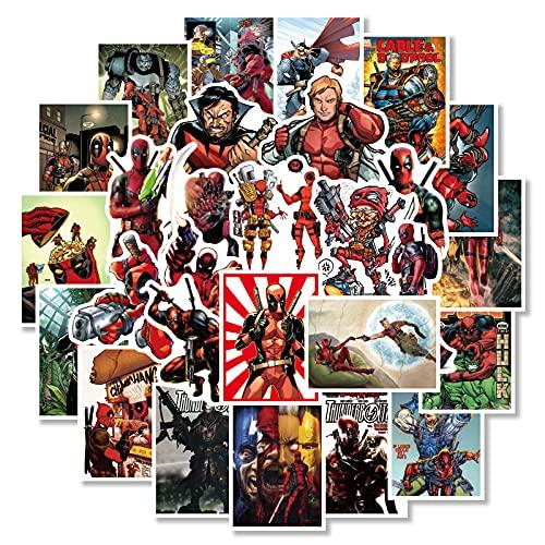 Marvel Vengadores Maleta Pegatina Impermeable Portátil Guitarra Superhéroe Cartoon Anime Sticker