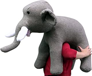American Made Oversized Stuffed Elephant 36 Inches Gray Color Soft Large Plush