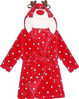 Girls Robes Unicorn Hooded Bathrobe Kids Cartoon Animal Pajamas Winter Sleepwear Robes