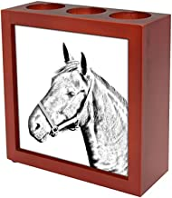 Art Dog Ltd. Danish Warmblood, Wooden Stand for Candles/pens with The Image of a Horse