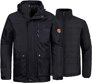 Wantdo Men`s 3-in-1 Ski Jacket Waterproof Winter Snow Coat Windproof Puffy Liner