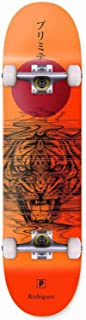 Primitive Rodriguez Spirit Tiger Skateboard Complete Sz 8.0in Orange