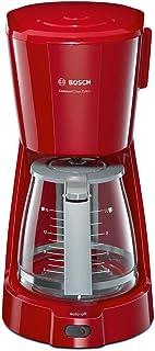 Bosch TKA3A034 Cafetière Filtre 1100 W, 1,25 L, Gris/Rouge