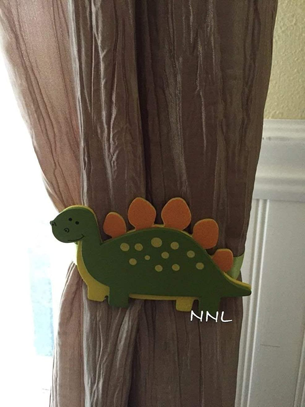 Nursery Curtain Tie Backs - 2pc Set Nursery Decor - Dinosaur