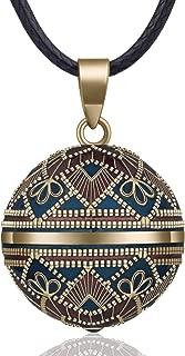 EUDORA Harmony Ball Necklace Vintage Colorful Creative Music Chime Bell Wishing Bola Enamel Craft Pendant, 30