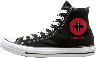 Men & Women Eminem - Recovery High Top Sneakers Canvas Shoes Design Sport Shoes Funny Black