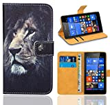 FoneExpert® Microsoft Lumia 535 Handy Tasche, Wallet Hülle Flip Cover Hüllen Etui Ledertasche Lederhülle Premium Schutzhülle für Microsoft Lumia 535 (Pattern 4)