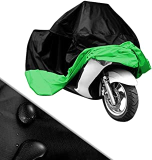 Black & Green Motorcycle Cover for Honda Silverwing 600 Scooter VLX UV Dust Prevention XL