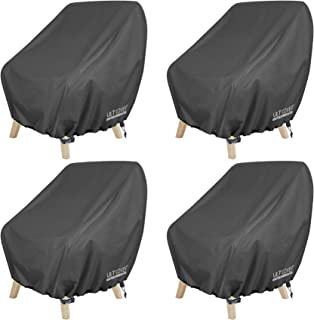 ULTCOVER Waterproof Patio Chair Cover – Outdoor Lounge Deep Seat Single Chair Cover 4 Pack Fits Up to 28L x 30W x 32H inch...