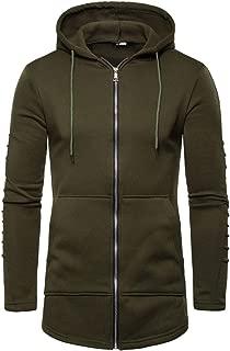 Zackate Mens Casual Lightweight Windbreaker Solid Color Hooded Jacket Sweatshirts with Pockets Hoodies