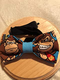 Donkey Kong pre-tied Bow Tie Nintendo 64,Adjustable 18