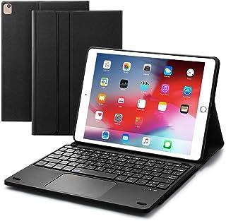 Ewin® 最新型 iPad 第8世代 iPad 10.2/10.5 キーボードケース JIS基準日本語配列 第7世代 2019モデル bluetoothキーボード ワイヤレス タッチパッド搭載 ロック可能 脱着式 2台のiOSデバイス切り替え...