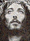 Jesus Christ Mosaic Collage Jesus & Virgin Mary Photos By Michael Verlangieri