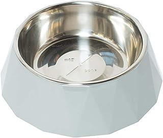MOG & BONE Faceted Designer Melamine Dog Bowl Cool Grey700ml