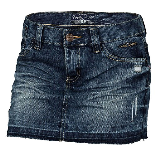 Urban Surface Damen Jeansrock D8707E52650AI37LE LUS-034 Dark Blue Denim L
