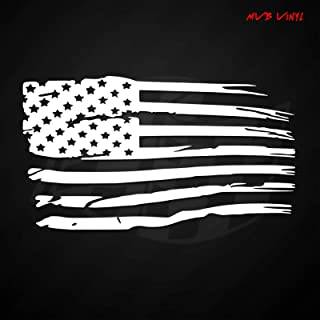 Distressed Tattered American Flag Vinyl Decal Sticker 641