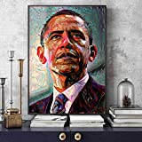 UIOLK Retrato del Presidente Obama, Pintura artística para Pared, Sala de Estar, decoración del hogar, Arte de Pared, Ventilador, decoración del hogar