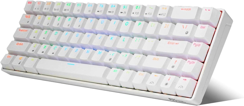 Royal Kludge RK68 RGB White 65% Mechanical Keyboard