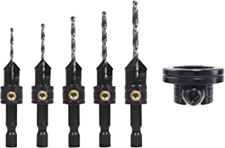 Snappy Tools Quick-Change 5-Pc. Countersink Drill Bit Set with Rotating Depth Stop