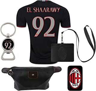 #92 El Shaarawy (6 in 1 Combo) A.C. Milan Home Match Adult Soccer Jersey 2016-17