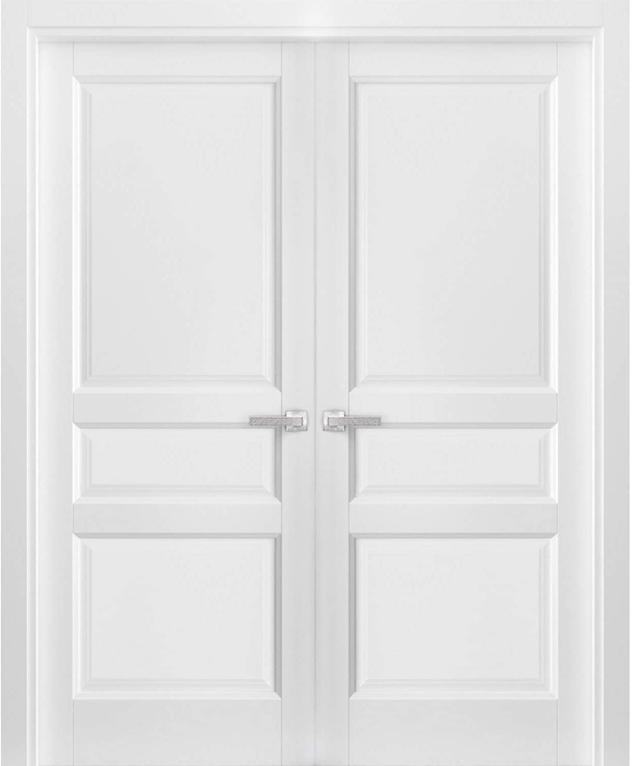 French Double Panel Kansas City Mall In stock Solid Doors 36 84 Lucia x 31 Hardware with