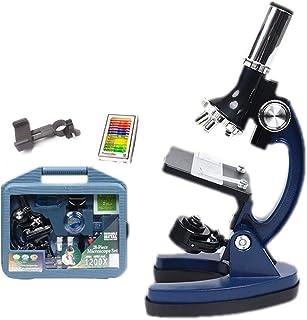 مجموعة المجهر الحيوي للأطفال من الأطفال ستيودانت 300X 600X 1200X تكبير وكاميرا كاملة للزجاج المحمول لألعاب العلم مع مجموعة...