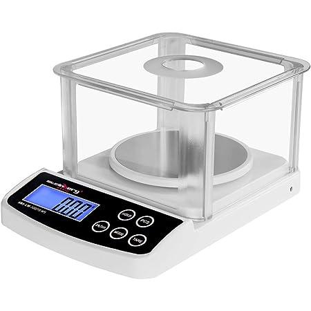 Steinberg Balance de Précision Cuisine Professionnelle Glace de protection SBS-LW-500/10 (500 g / 0,01 g, surface de pesée 12 cm, 6 unités de pesage, écran LCD rétroéclairé)
