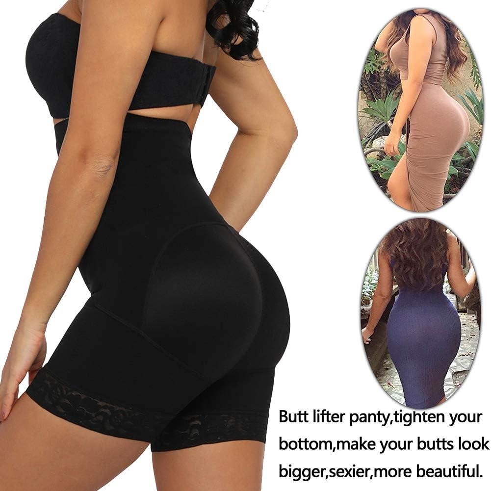 Seamless Shapewear Control Panty Women Tummy Control Butt Lifter Body Shaper Firm Boyshorts Thigh Slimmer Black M