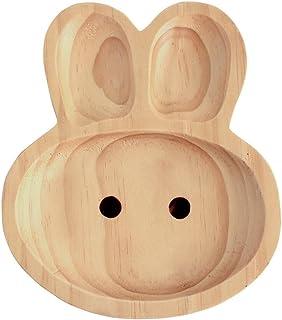 SPICE OF LIFE(スパイス) 木製 食器 皿 キッズウッドトレイ うさぎ PETITS ET MAMAN ナチュラル 20×23cm 箱入り AVLF1020