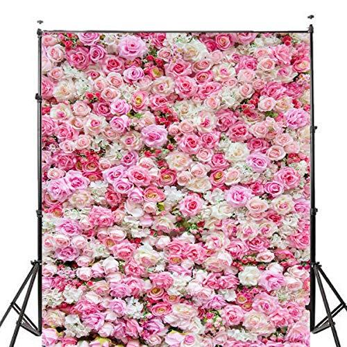 NeverSad 5x7FT Hochzeit Rose Flowers Fotografie Hintergrund Studio Prop Hintergrund