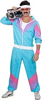 WIDMANN Disfraz 80s Shell Retro - Chándal para adulto- Multicolor (Azul-Lila-Rosa)- talla del fabricante: XXL