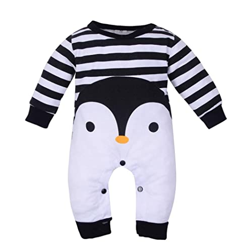 5e6c4a715d9 Winsummer Toddler Baby Boy Girl Letter Dinosaur Romper Bodysuit Outfit  Winter Warm Jumpsuit Tops Pajamas Clothes