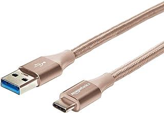 Amazonベーシック 充電ケーブル USB タイプC~タイプA 3.1 第1世代 ダブル編組ナイロン 3.0m ゴールド