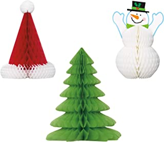 Unique Christmas Centerpieces Party Bundle | 3 Count | Great for Christmas Parties, Holiday Celebrations, and Themed Gatherings