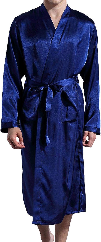 Previn Men's Satin Regular discount Kimono Robe Free Shipping New Long Silk Luxurious Bathrobes Spa