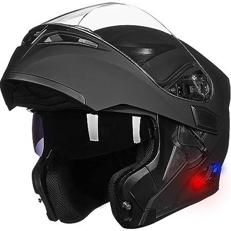 New Full Face Modular Flip Up Motorcycle Helmet /& Dual Visor Road Motor Bike
