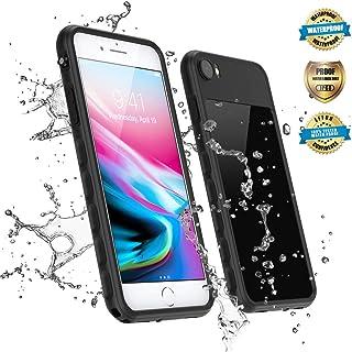 EFFUN iPhone SE 2020 Waterproof Case, iPhone 7/iPhone 8 Waterproof Case, IP68 Certified Waterproof Dirtproof Snowproof Shockproof Case Fully Sealed Underwater Cover Black/Aqua Blue