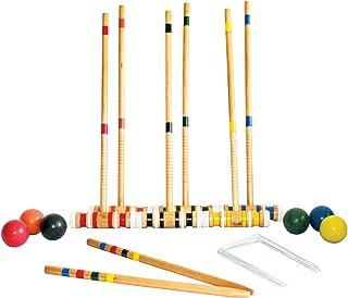Triumph 6-Player Croquet Set - Includes 6 Wood Mallets, 6 Balls and Carry Bag