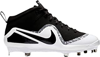 Men's Force Air Trout 4 Pro Baseball Cleat Black/White/Wolf Grey Size 12 M US