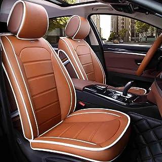 JKHOIUH Cinco fundas de asientos, fundas de alfombrillas protectoras de asientos, fundas de asientos de automóviles que se adaptan a la mayoría de los vehículos, automóviles, sedán, camioneta, camione