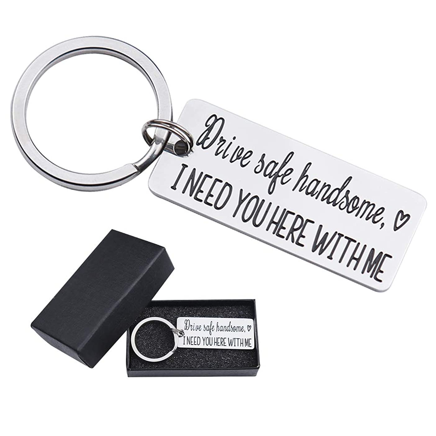 Drive Safe I Need You Here with Me Keychain for Husband Son Fathers Day Gifts Keychains for Boyfriend Dad Key Chain owryulxfgnh530