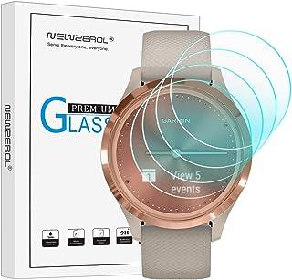 NEWZEROL 4 st kompatibel med Garmin Vivomove 3S skärmskydd med härdat glas, skärmskydd med hög upplösning skärmskydd med h...